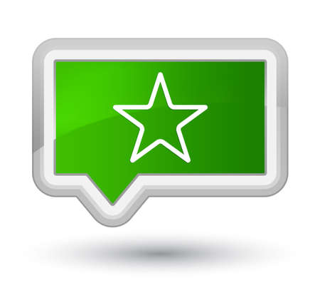Star icon isolated on prime green banner button abstract illustration Stock Photo