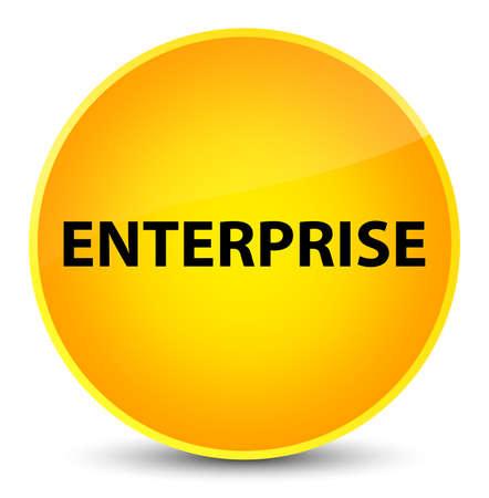 Enterprise isolated on elegant yellow round button abstract illustration Stok Fotoğraf