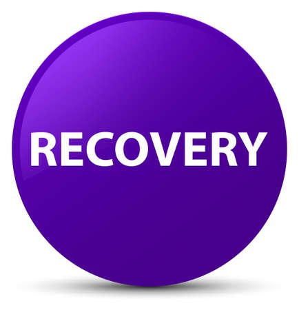 Recovery isolated on purple round button abstract illustration 版權商用圖片