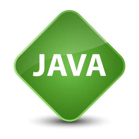 エレガントな柔らかい緑色のひし形ボタン抽象的なイラストに分離された Java