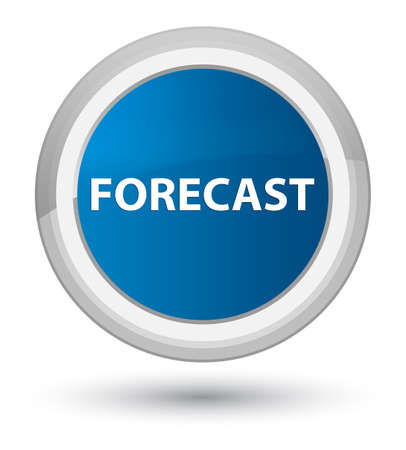 Forecast isolated on prime blue round button abstract illustration