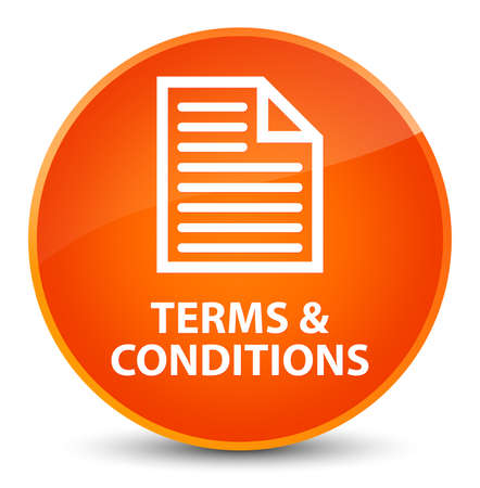 Terms and conditions (page icon) isolated on elegant orange round button abstract illustration Stock Photo