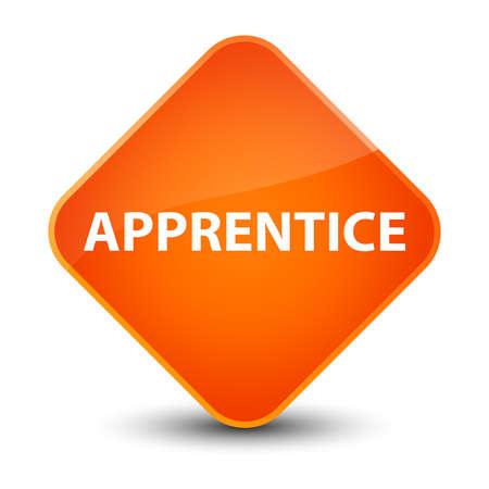 Apprentice isolated on elegant orange diamond button abstract illustration