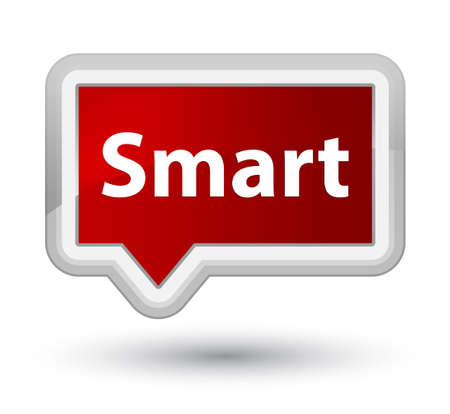 Smart isolated on prime red banner button abstract illustration