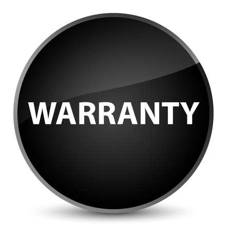 Warranty isolated on elegant black round button abstract illustration Stock Photo