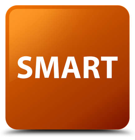 Smart isolated on brown square button abstract illustration