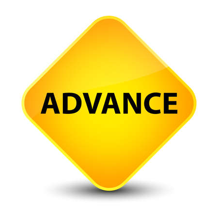 Advance isolated on elegant yellow diamond button abstract illustration Stock Photo