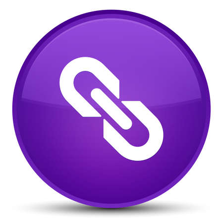 Link icon isolated on special purple round button abstract illustration