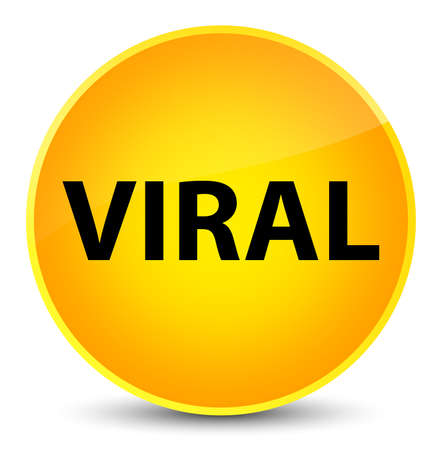 Viral isolated on elegant yellow round button abstract illustration