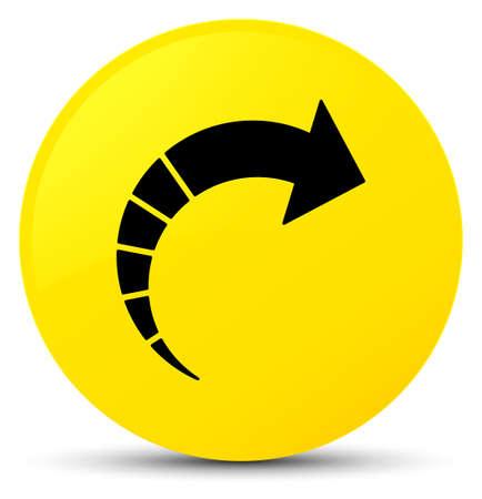 next icon: Next arrow icon isolated on yellow round button abstract illustration