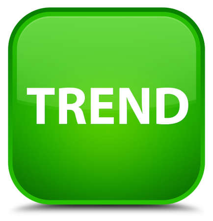 Trend isolated on special green square button abstract illustration