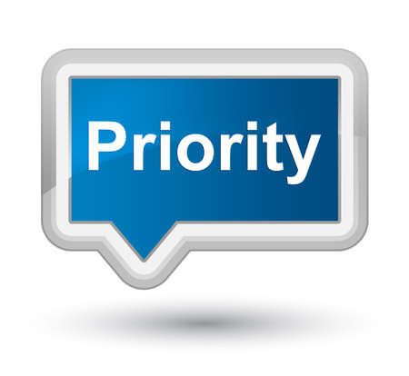 Priority isolated on prime blue banner button abstract illustration