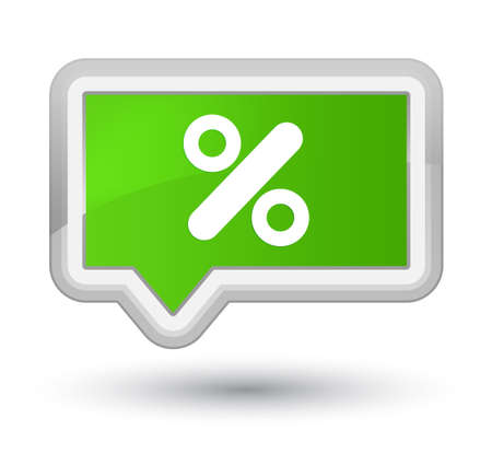 Discount icon isolated on prime soft green banner button abstract illustration