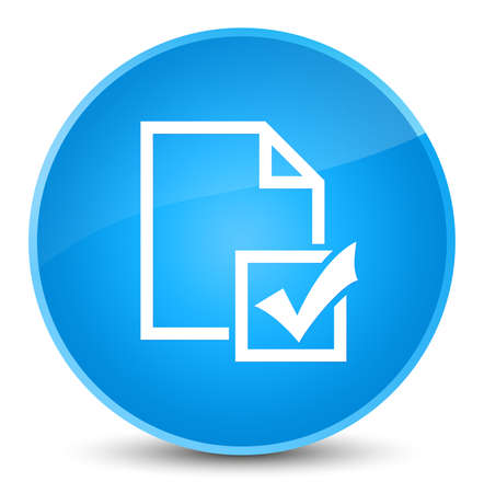 Survey icon isolated on elegant cyan blue round button abstract illustration