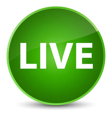 Live isolated on elegant green round button abstract illustration Stock Photo