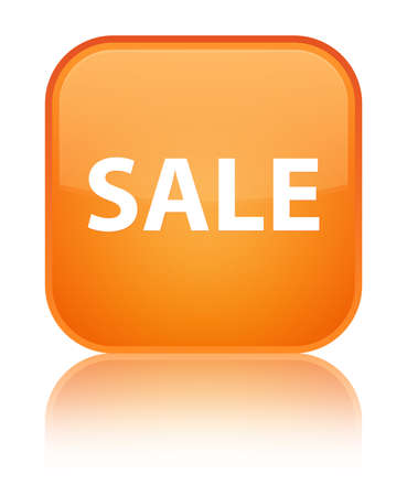 Sale isolated on special orange square button reflected abstract illustration Stock Photo