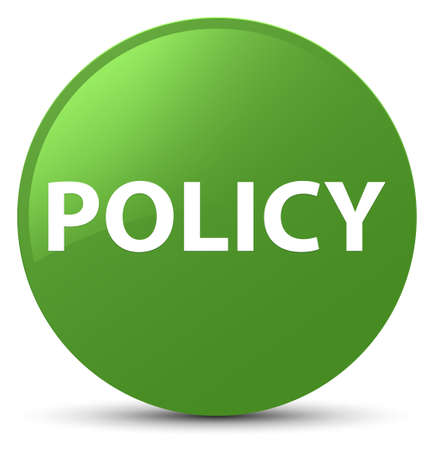 Policy isolated on soft green round button abstract illustration