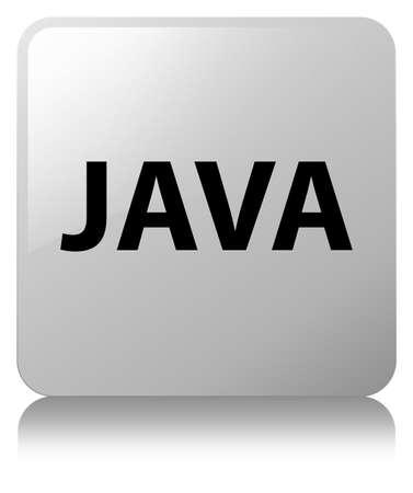 白い正方形のボタンで分離された Java 反映の抽象的なイラスト