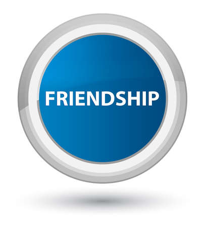 Friendship isolated on prime blue round button abstract illustration