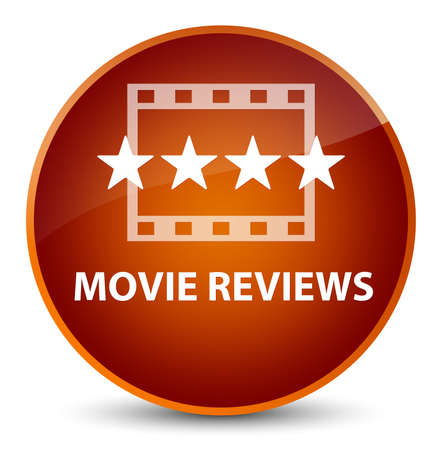 Movie reviews isolated on elegant brown round button abstract illustration