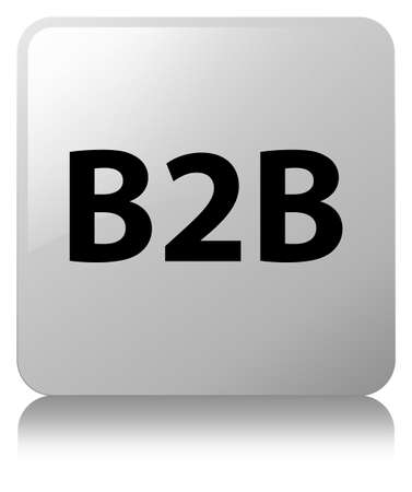 B2b isolated on white square button reflected abstract illustration Stock Photo
