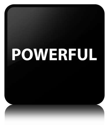Powerful isolated on black square button reflected abstract illustration 版權商用圖片