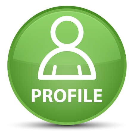 Profile (member icon) isolated on special soft green round button abstract illustration Stock Photo