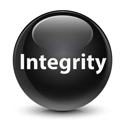Integrity isolated on glassy black round button abstract illustration