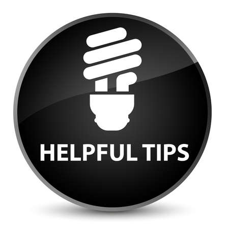 Helpful tips (bulb icon) isolated on elegant black round button abstract illustration
