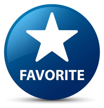Favorite (star icon) isolated on blue round button abstract illustration