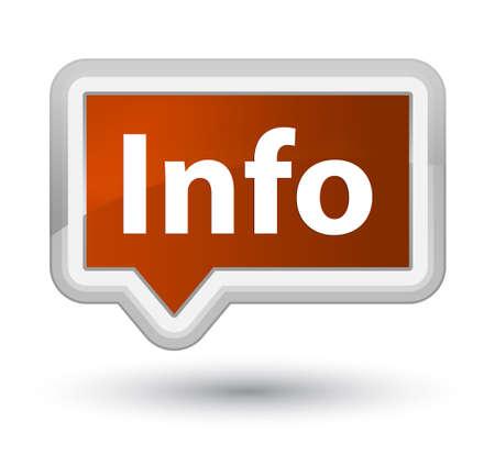 Información aislada en el ejemplo abstracto del botón principal marrón de la bandera