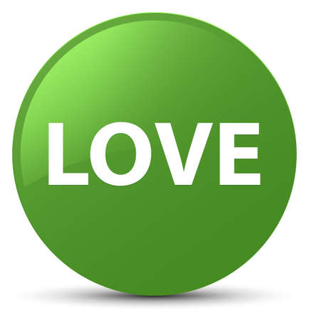 Love isolated on soft green round button abstract illustration