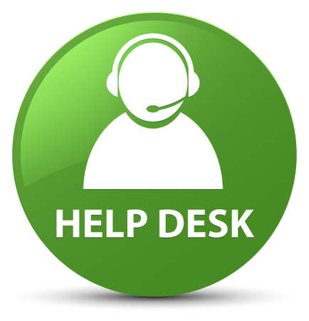 Help desk (customer care icon) isolated on soft green round button abstract illustration Stock Photo