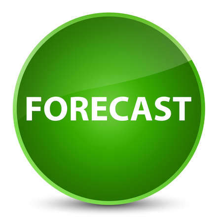 Forecast isolated on elegant green round button abstract illustration Banco de Imagens