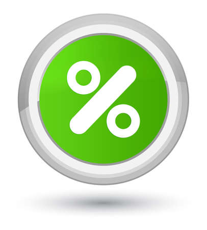 Discount icon isolated on prime soft green round button abstract illustration Stock Photo