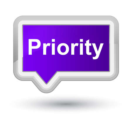Priority isolated on prime purple banner button abstract illustration