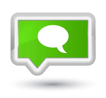 Chat icon isolated on prime soft green banner button abstract illustration