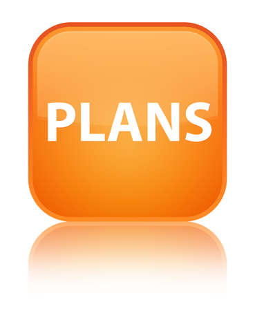 Plans isolated on special orange square button reflected abstract illustration