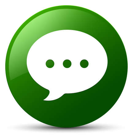 Conversation icon isolated on green round button abstract illustration