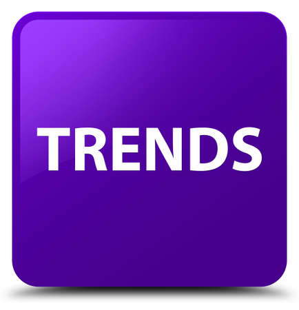 Trends isolated on purple square button abstract illustration 스톡 콘텐츠