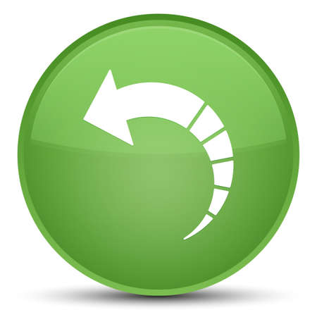 Back arrow icon isolated on special soft green round button abstract illustration Stock Photo