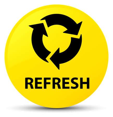 Aktualisieren Sie lokalisiert auf gelber runder Knopfzusammenfassungsillustration