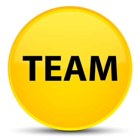 Team isolated on special yellow round button abstract illustration Stock Photo