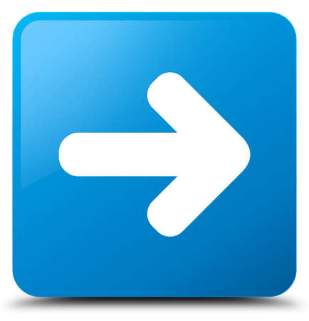 next icon: Next arrow icon isolated on cyan blue square button abstract illustration