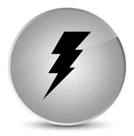 Electricity icon isolated on elegant white round button abstract illustration Stock Photo