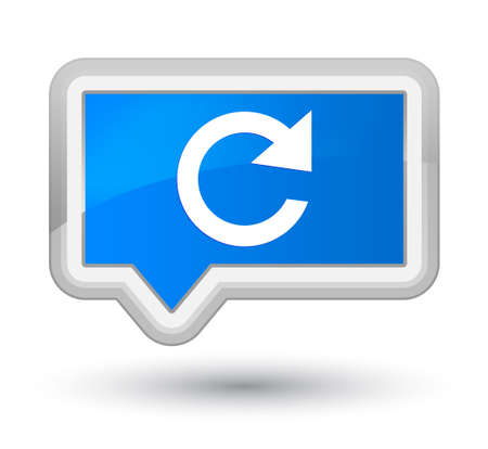 Reply rotate icon isolated on prime cyan blue banner button abstract illustration