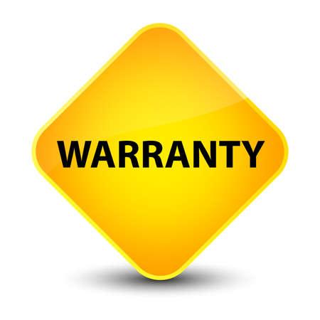Warranty isolated on elegant yellow diamond button abstract illustration