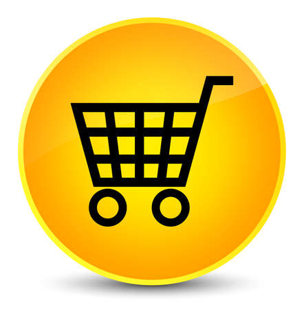 Ecommerce icon isolated on elegant yellow round button abstract illustration Foto de archivo