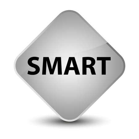 Smart isolated on elegant white diamond button abstract illustration