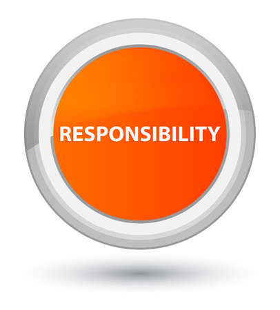 Responsibility isolated on prime orange round button abstract illustration Stock Photo